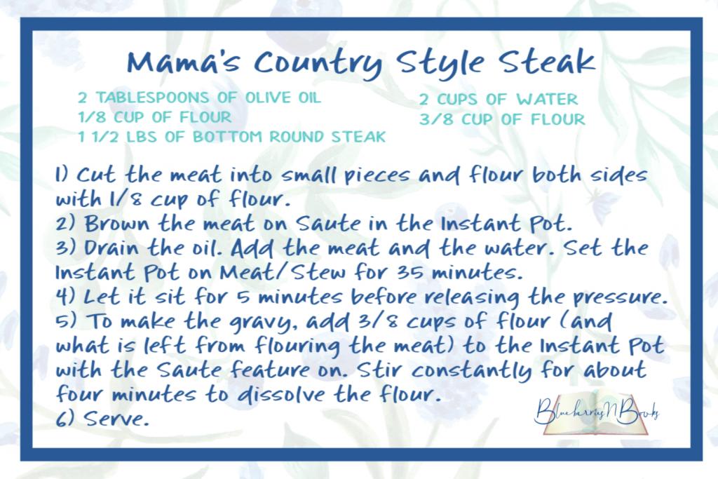 Mama's Country Style Steak recipe