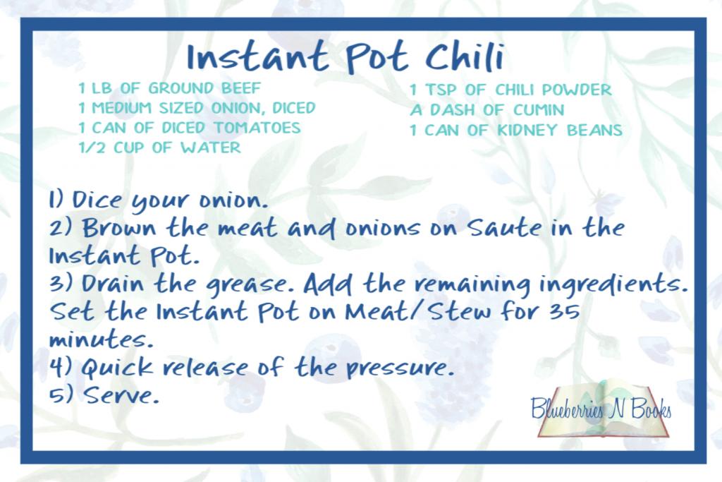 The recipe for Instant Pot Chili